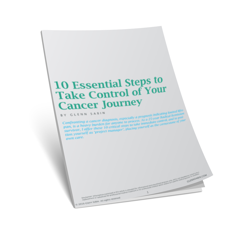 10 Essential Steps to Take Control of Your Cancer Journey guide 3D cover