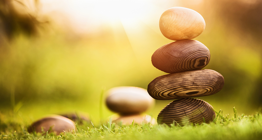 Natural background of balance and harmony, natural stones made o